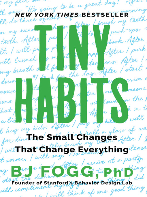 """Cover for """"Tiny Habits: The Small Habits That Change Everything"""""""